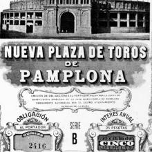 OBLIGACIONES DE FINANCIACIÓN DE LA PLAZA DE TOROS DE PAMPLONA