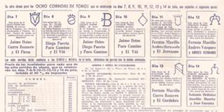 Histórico Carteles. Programa de mano.
