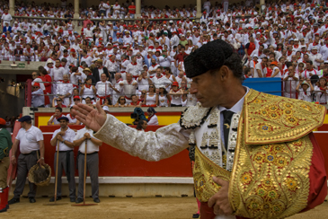 Paseíllo de Pepín Liria en la Plaza de Pamplona