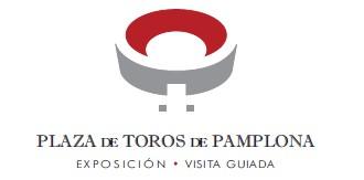 Logotipo con imagen de la plaza de toros de Pamplona.