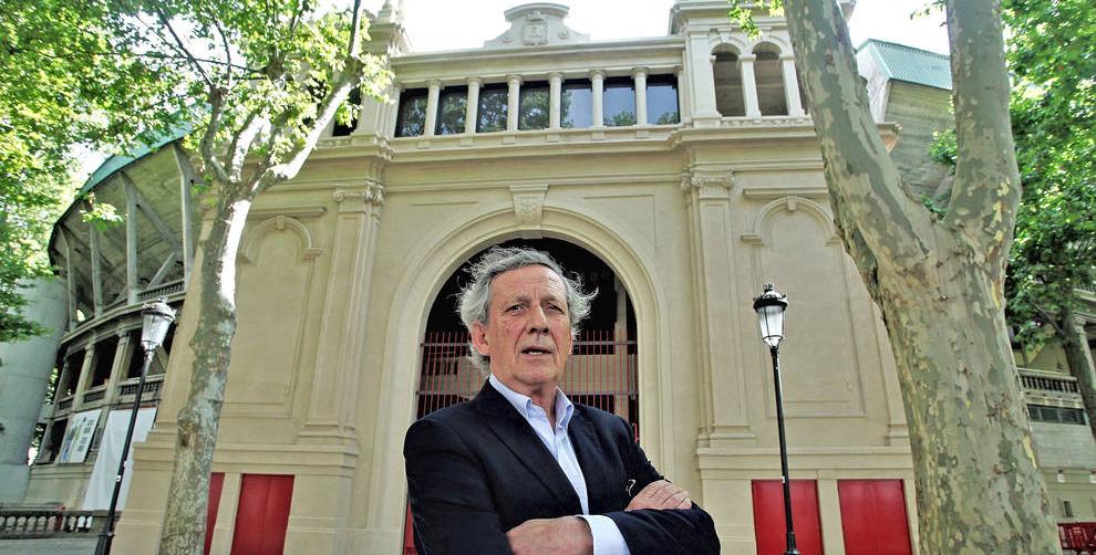 José María Marco en la Puerta Principal de la Plaza de Toros de Pamplona