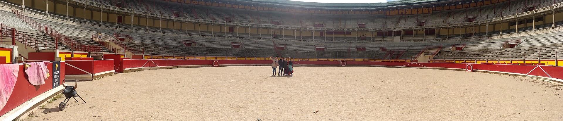 plaza Pamplona siendo visitada